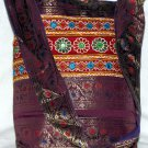 Bohemian Style Indian Jacquard Multi Color Silk Hand Bag