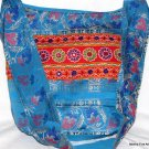 Bohemian Style Indian Jacquard Blue Color Silk Hand Bag