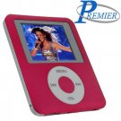 "Ultra portable digital MP3/MP4 player ""RED"" with built in FM radio and voice recorder"