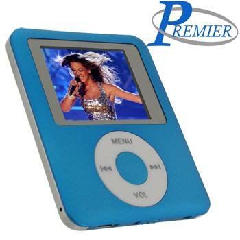 "Ultra portable digital MP3/MP4 player ""BLUE"" with built in FM radio and voice recorder."