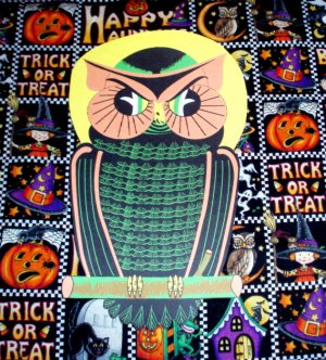 Halloween American Moon Owl Die Cut Party Decorations