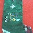 NATIVITY Christmas Stocking PERSONALIZED holiday decor