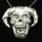 GOTHIC DEAD FOOL SKULL JESTER PENDANT GOTH HALLOWEEN NECKLACE