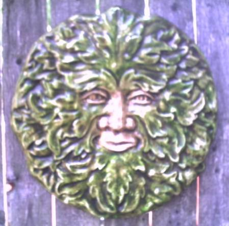 GOTHIC GREENMAN LEAFMAN WALL PLAQUE RENAISSANCE CELTIC