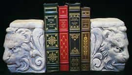NEW PAIR GOTHIC LION HEAD BOOKENDS GARGOYLE CELTIC BOOK