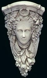 Moon Goddess Bracket Gothic Woman Face Corbel Wall Hanging Decor