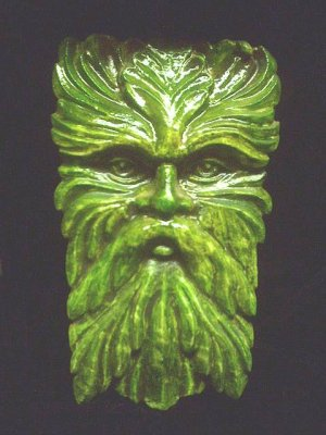 WISE OLD GREENMAN WALL HANGING CELTIC HOME DECOR GOTHIC PAGAN