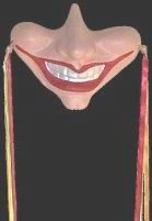 GOTHIC FANTASY SMILE WALL MASK JESTER CLOWN RENAISSANCE WALL HANGING