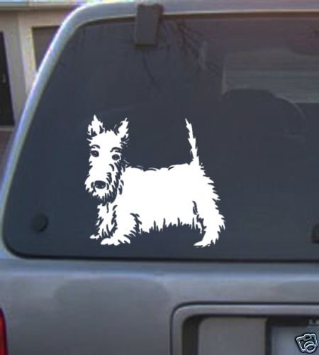 Decal Vinyl Graphic Scottish Terrier  4 Colors to pick