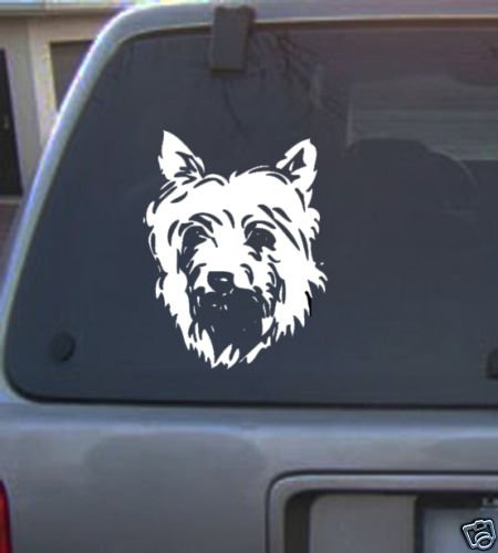 Decal Vinyl Graphic Dog Silky Terrier  4 Colors to pick