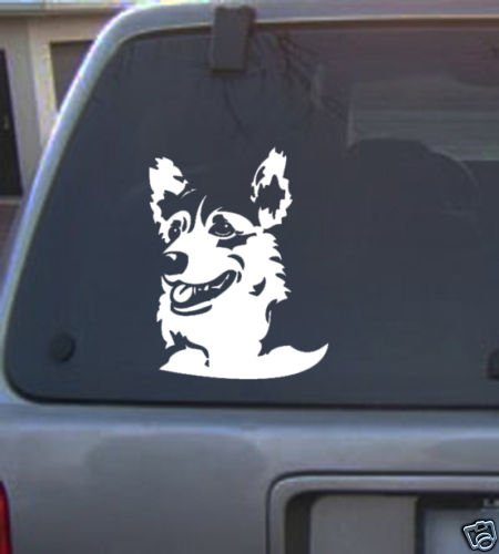 Decal Vinyl Graphic Dog Corgi  4 Colors to pick