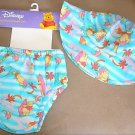 DISNEY WINNIE THE POOH SUN HAT AND DIAPER SET 12 MONTHS