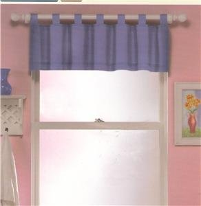 "WINDOW VALANCE ""LILAC SAILCLOTH""100%COTTON NURSERY/HOME"