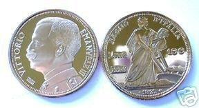 (MC R12-5) 1927 Italian Gold 100 Lira Coin COPY (WC)