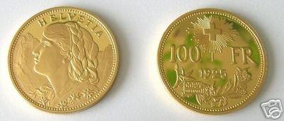(MC R13-5) 1925 Swiss Gold 100 Francs COPY