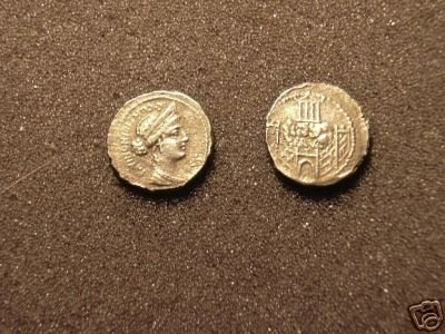 (RR-17) Denarius of C. Nonianus  COPY