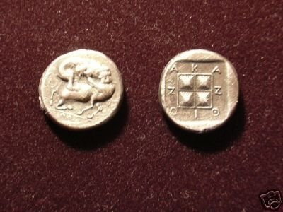 B 038 (DD-03825) Greek Tetradrachm of Akanthos COPY