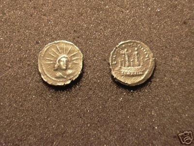 (RR-39) Denarius of Mussidius Longus COPY