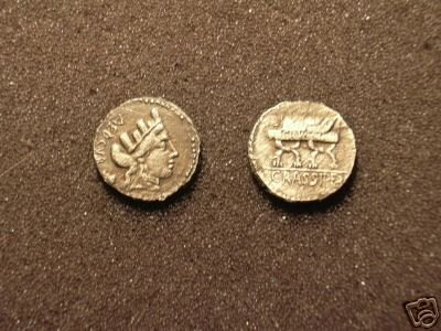 (RR-30)  Roman Denarius of Furrus Crassipes COPY