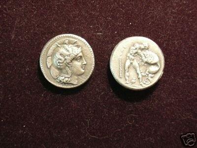 B 005 (DD-00525) Greek Didrachm of Heraklia COPY