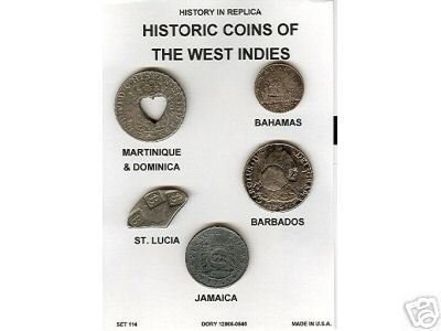 (DD-S 114) Coins of W. Indies  COPY