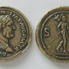 (DD Z-22)  Brass Sestertius of Vitellius COPY