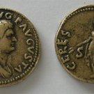 (DD Z-20)  Brass Dupondius of Julia Titi  COPY