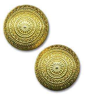 Round Goldtone Earrings