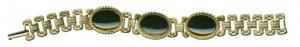 Goldtone Bracelet with Onyx