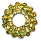 Yellow Crystal Brooch