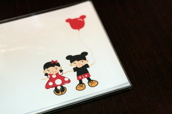 Mickey Mouse - Three Flat Not Cards Set