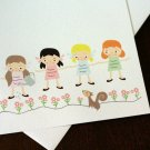 Lovely Friends - Set of 3 Flat Note Card Set