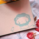 3 Little Birdie and Little Lion - Screen Print Flat Note Card Set