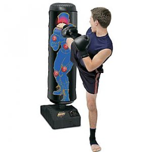 Kids Youth Kick Boxing Training Bag Electronic W Score Keeper Light Up Targets