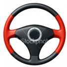 Steering Wheel - 3 Spoke Red