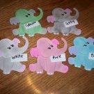 5 Assorted 3 Dimensional Elephants  Scrapbooking or Card Die Cuts