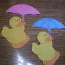 Yellow Ducks  Scrapbooking or Card Die Cuts