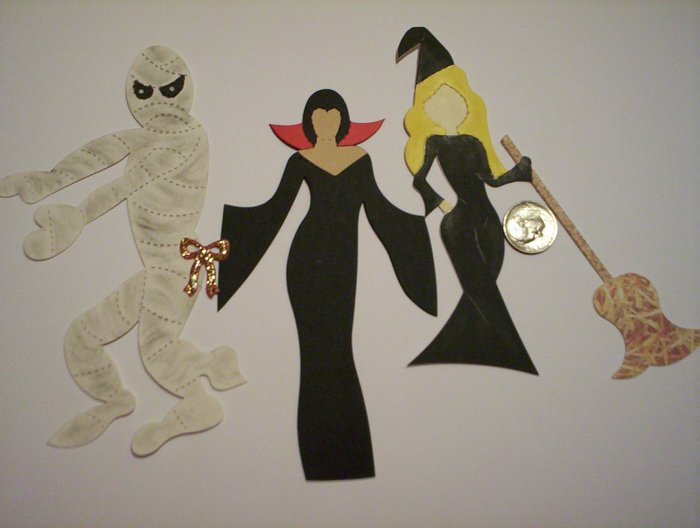 Mummy Lady Vampire Witch Scrapbooking or Card Die Cuts