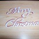 Merry Christmas  Scrapbooking or Card Die Cuts
