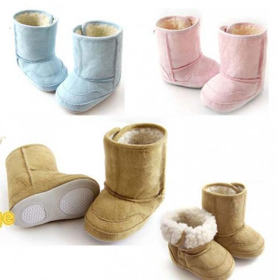 Wholesale-30pairs Prewalker Baby Boots , Suede-like baby boots, boy & girl