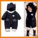Hooded Fleece Baby Bat Man Batman 6-12M, girl, boy NWT