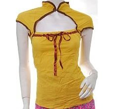 cyber goth futuristic oriental chinese sexy harness top xs free ship!
