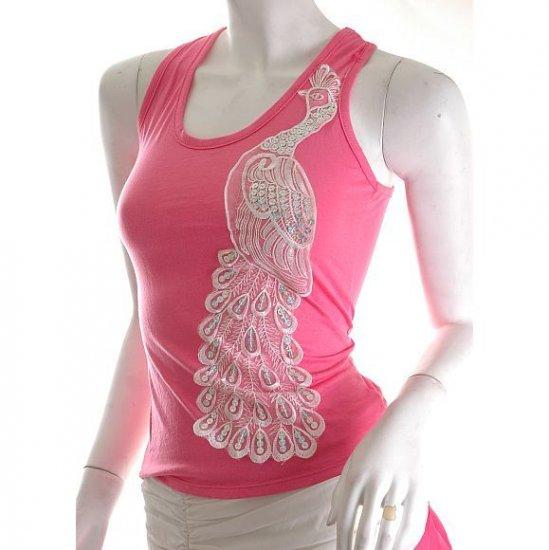 unique vintage style lace racerback hot pink top artsy crafty meets urban s diy free ship!
