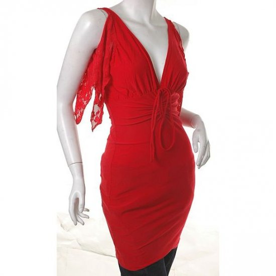 siren red roman goddess costume draped ruched mini dress 80s bodycon s-m free ship!