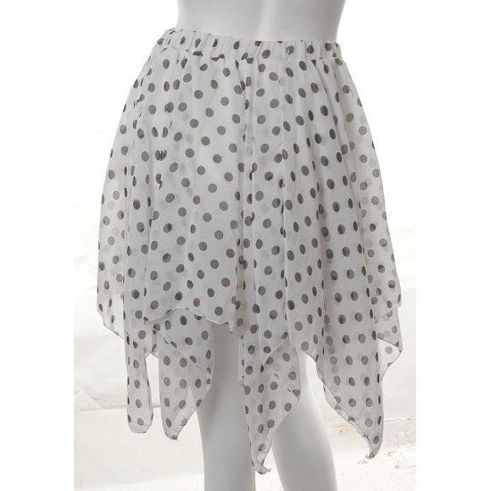 emo new wave polka dot print fairy pixie asymmetrical layered tutu ballerina skirt s-l free ship!