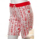 cyber goth punk japanese street style kanji print bicycle shorts 80s costume s-m free ship!