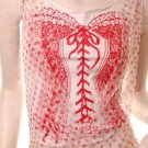 Sexy emo scene punk mock corset quirky overlay top free shipping!