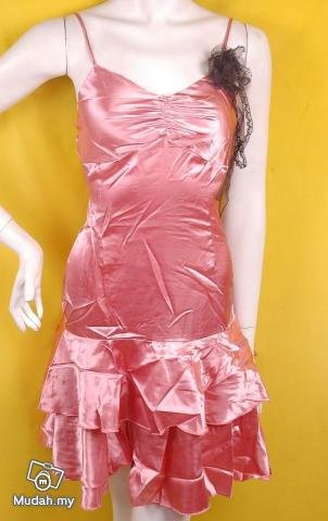 2010 RUNWAY FASHION CLOTHING SHEER TREND COCKTAIL DRESSES PINK METALLIC BOUDOIR TREND DRESS