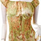 2010 TRENDS RUNWAY FASHION ROMANTIC CLOTHING SHEER TREND GREEN FLORAL NYMPH TOP