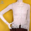 ROMANTIC TREND BRODERIE ANGLAIS SHEER LAYER RUNWAY FASHION VINTAGE STYLE CLOTHING TOP